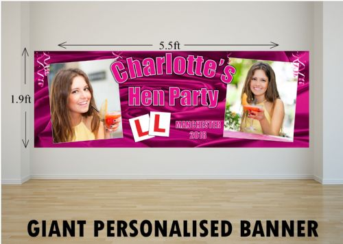 Personalised GIANT Large Hen Night Party Bride To Be Bachelorette Poster Banner N4